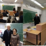 Gimnazistų susitikimas su VU docentu Romualdu Kašuba